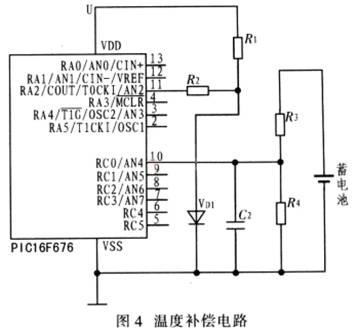 该温度补偿电路主要由温度补偿二极管构成