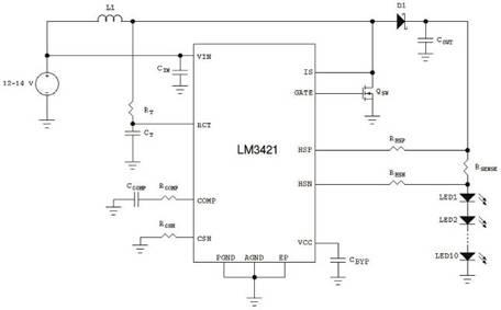 汽车电子系统应用的led驱动解决方案高清图片