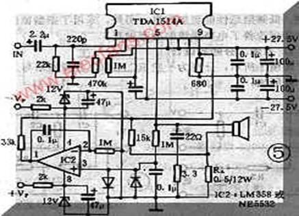 tda1514设计的双声道功放电路