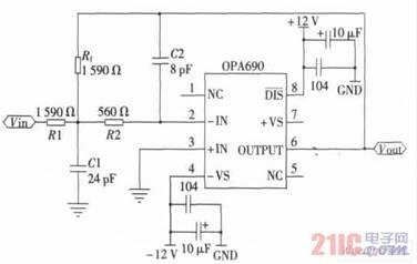 图3 低通滤波电路 4